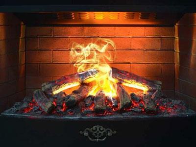 3д имитация пламени в камине